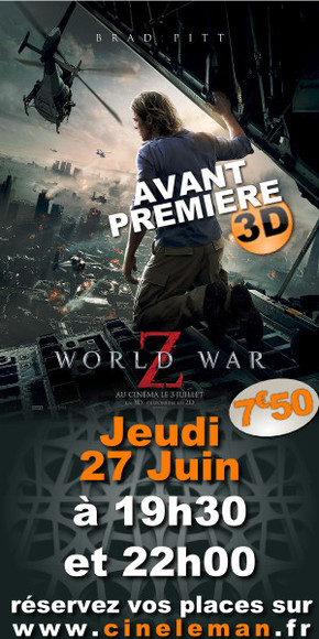 Avant-premi�re World war Z
